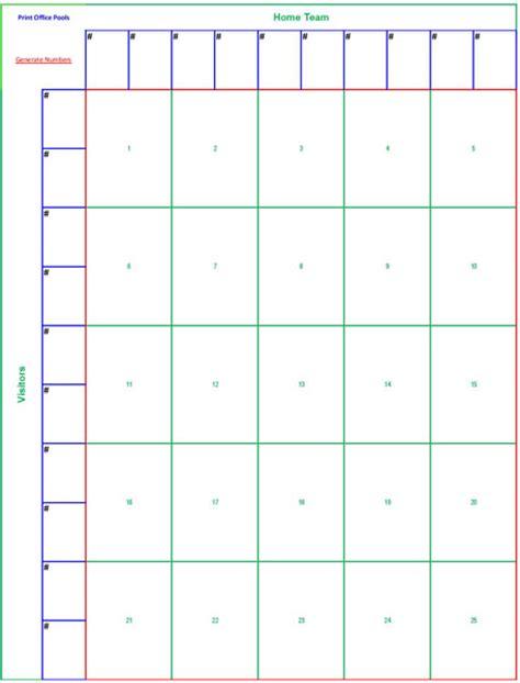 square football pool sheet super bowl block pool template