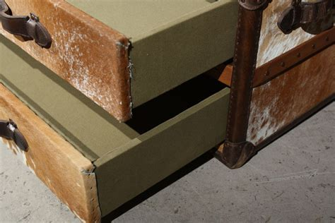 cowhide leather trunk coffee table at 1stdibs