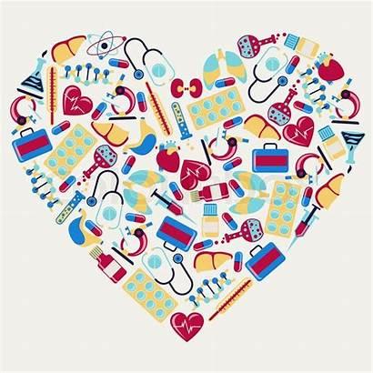Health Medical Care Heart Icons Vector Shape