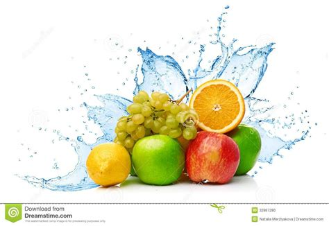 fruit mix in water splash stock photo image of kiwi