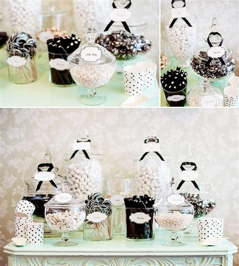 black and white candy table black white mint candy buffet candy bars candy buffet