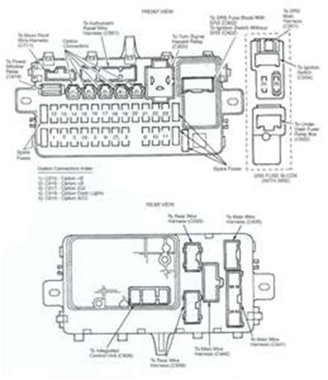 94 Honda Civic Fuse Panel Diagram by Solved I Need A 94 Civic Fuse Panel Diagram Fixya