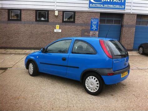 vauxhall corsa blue used vauxhall corsa 2002 petrol 1 0i 12v club 3dr