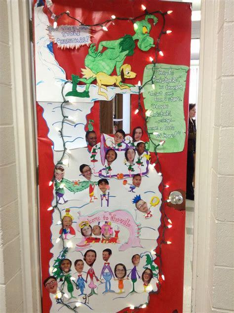 the grinch classroom door door decor pinterest