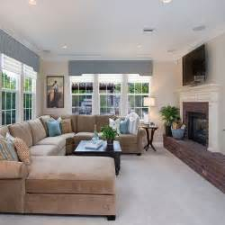 neutral living room with taupe sectional design ideas