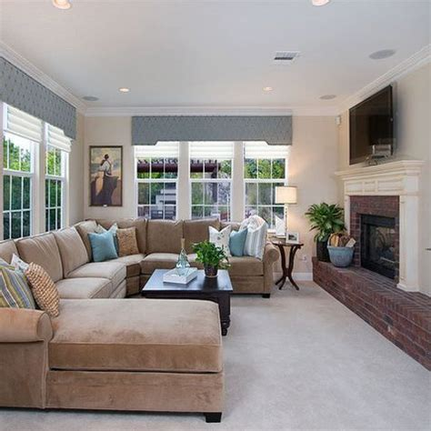 Sofa Living Room Designs by Neutral Living Room With Taupe Sectional Design Ideas