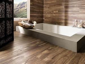 Sol Bois Salle De Bain : parquet flottant bois sol salle de bain ideeco ~ Premium-room.com Idées de Décoration