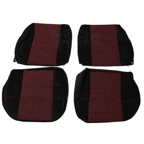 sieges 205 gti coiffes de siège avant et banquette arrière en tissu noir