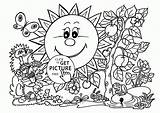 Coloring Pages Garden Printable Spring Kawaii Tools Gardening Drawing Seasons Printables Sunny Sheets Flower Colour Wuppsy Flowers Getcolorings Kid Summer sketch template