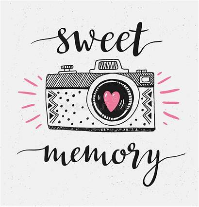 Sweet Camera Vector Memory Lettering Illustration Drawn
