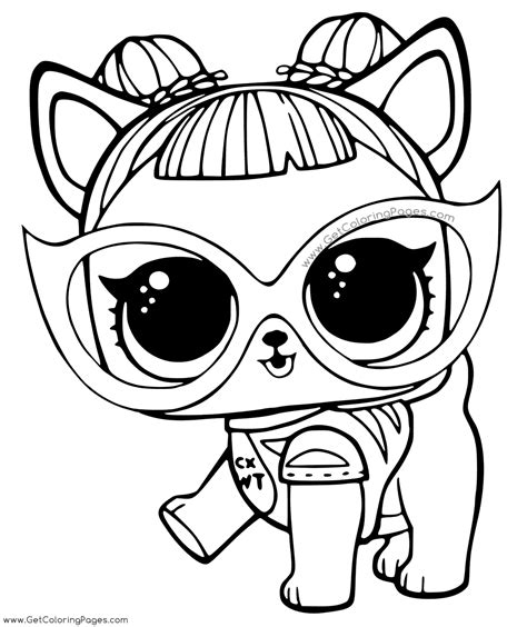 lol surprise pets coloring pages getcoloringpagescom