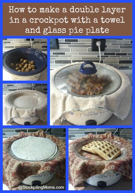 how to make a pie how to make a double layer in a crockpot with a towel and glass pie plate
