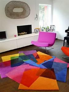 deco chambre interieur tapis contemporains pour votre salon With tapis salon contemporain