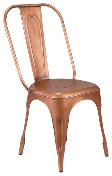 felix cafe style cafe chair metallic copper
