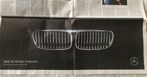 Mercedes Congratulates Bmw On Completing 100 Years With