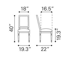 dining chair dimensions standard