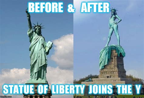 Statue Of Liberty Meme - statue of liberty drops the torch closes the borders and gets fit imgflip