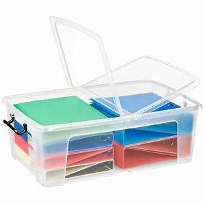 Jolie Boite De Rangement : cep strata boite de rangement plastique 50 litres ~ Dailycaller-alerts.com Idées de Décoration