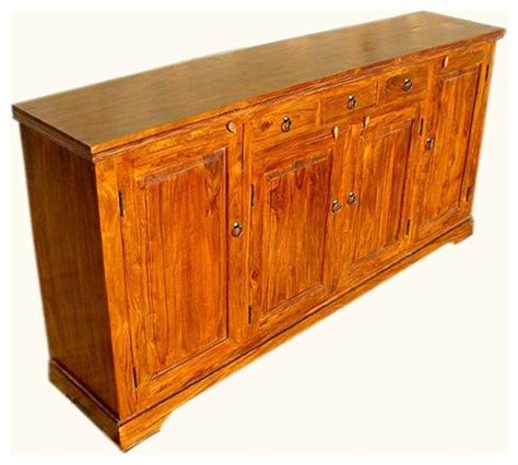 Large Sideboards And Buffets by Santa Large Rustic Sideboard 4 Door 3 Drawer Server