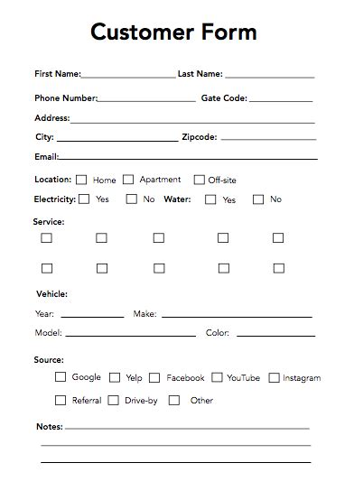 customer details form use these customer forms to make more sales 3 tyes to