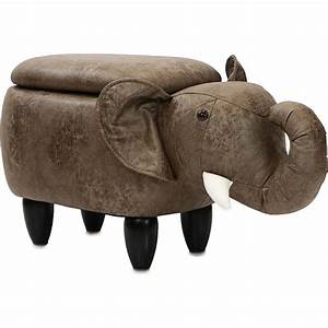 Critter, Sitters, 15, U0026quot, Seat, Height, Animal, Shape, Storage, Ottoman, Furniture, For, Nursery, Bedroom