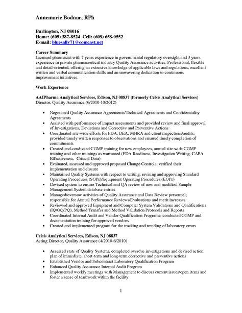 resume sles free download pdf qa qc resume sle