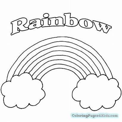 Rainbow Coloring Pages Printable Rainbows Toddlers Preschool