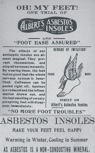 asbestos insoles  great funny ads vintage