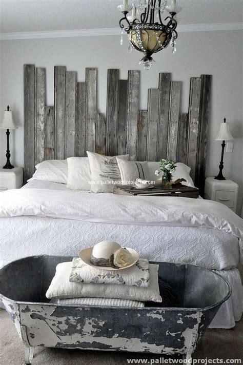 deco chambre de charme cozy pallet headboard ideas pallet wood projects