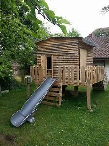 cabane enfants en bois de palettes bois de palettes With plan cabane de jardin enfant