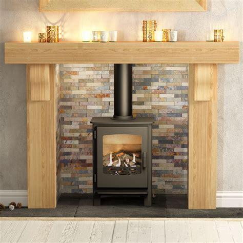 Be Modern Elicot Solid Oak Fireplace Surround   Flames.co.uk