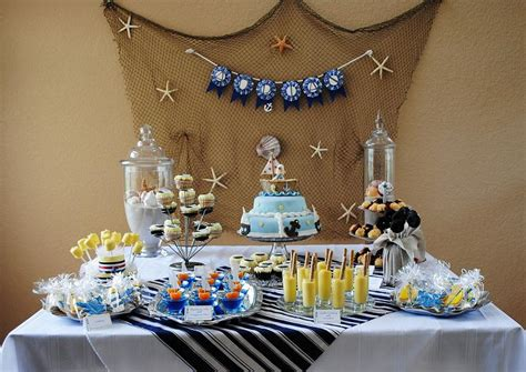 karas party ideas nautical baby shower ocean sea