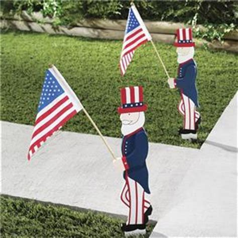 patriotic outdoor decorations sam flag patriotic yard stake 22 inches 4th
