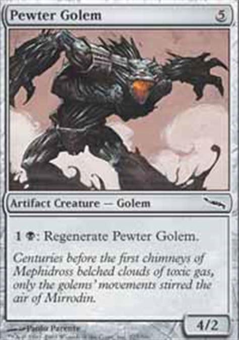 magic the gathering golem deck cobalt golem mirrodin magic the gathering