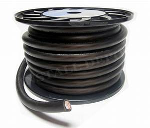 25 Ft  0 Gauge Power Wire Ground Cable