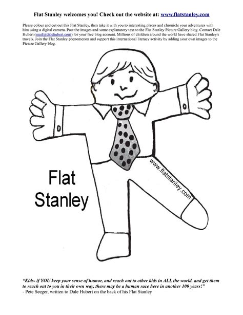 Free Flat Stanley Coloring Pages  Coloring Home