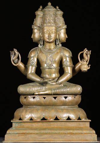 sold bronze meditating brahma  bc hindu gods