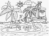 Coloring Hawaii Beaches Printable Popular sketch template