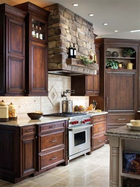 mediterranean kitchen cabinets vent home design ideas pictures remodel and decor 4049
