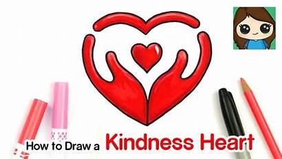Kindness Symbol Draw Heart Cartoon Afkomstig Drawsocute