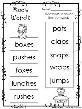 10 root words printable worksheets in pdf file kdg 2nd