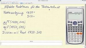 Kgv Berechnen Mit Primfaktorzerlegung : taschenrechner casio fx 991de ggt kgv division mit rest modulo youtube ~ Themetempest.com Abrechnung