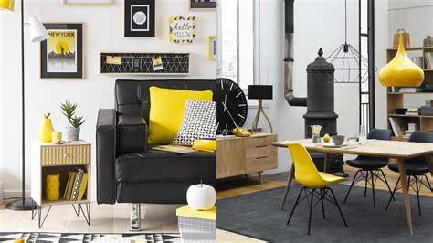 rideau pour cuisine design sélection déco graphique en jaune et noir shake my