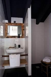 deco salle de bain bois et noir With salle de bains blanche