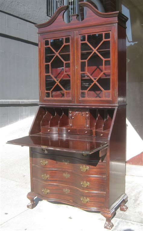 vintage secretary desk with hutch uhuru furniture collectibles sold mahogany secretary
