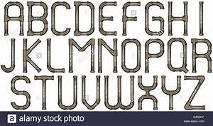 industrial metal pipe alphabet letters stock photo With industrial alphabet letters