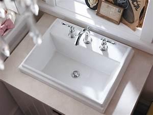 KOHLER K-2991-8-0 Tresham Rectangle Self-Rimming Bathroom