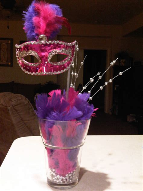 Mask Centerpiece Dinner Party Masquerade Party Sweet