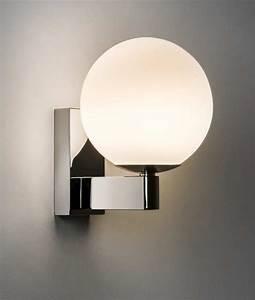 Decorative Bathroom Wall Light Round Shade