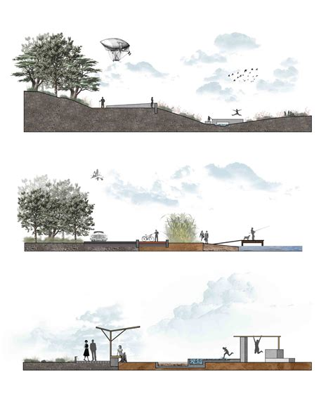 colour landscape architects gallery of fishing boat harbor and river of liopetri various architects 6